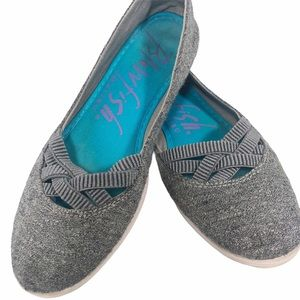Blowfish | Gray Slip-On Flats | 8